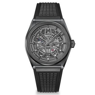 Zenith Defy Men's Black Rubber Strap Watch - Product number 4289943