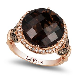 Le Vian 14ct Strawberry Gold Chocolate Quartz Ring - Product number 4290550