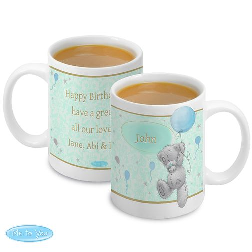 Personalised Me To You Blue Balloons Mug - Product number 4290852
