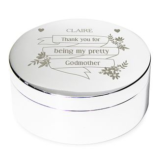 Engraved Garden Bloom Round Trinket Box - Product number 4291123