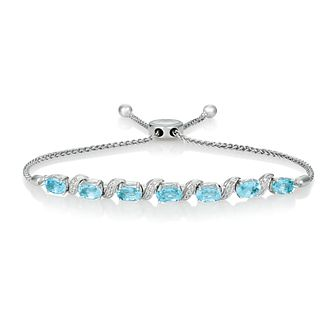 Le Vian 14ct Vanilla Gold Sea Blue Aquamarine Bracelet - Product number 4291182