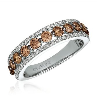 Le Vian 14ct Vanilla Gold Chocolate Diamond Eternity Ring - Product number 4291204
