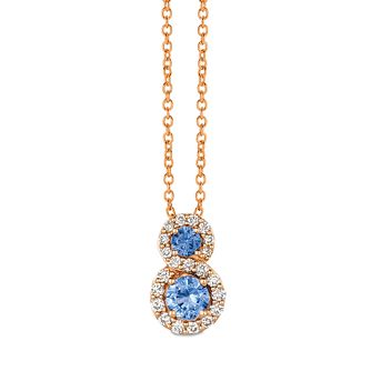 Le Vian 14ct Strawberry Gold Blueberry Sapphire Pendant - Product number 4291530