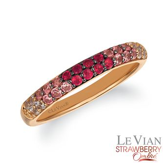 Le Vian 14ct Strawberry Gold Passion Ruby Ombre Ring - Product number 4291735