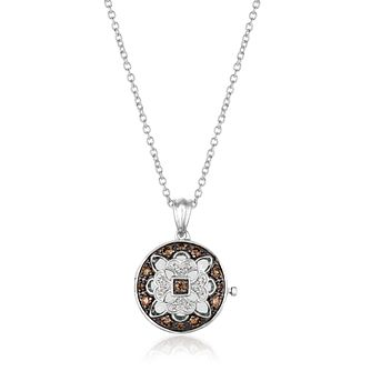 Le Vian 14ct Vanilla Gold Chocolate Diamond Locket - Product number 4292014