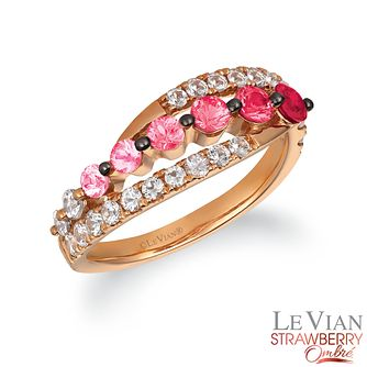 Le Vian 14ct Strawberry Gold Passion Ruby Ombre Ring - Product number 4292316