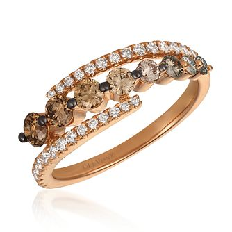 Le Vian 14ct Strawberry Gold Ombre Diamond Ring - Product number 4292448