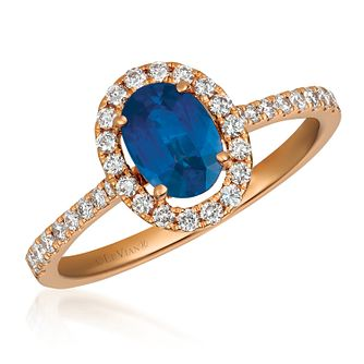 Le Vian 14ct Strawberry Gold Blueberry Sapphire Ring - Product number 4292561