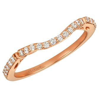 Le Vian 14ct Strawberry Gold Vanilla Diamond Wedding Ring - Product number 4295544