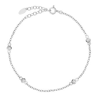 Bodifine Sterling Silver Cubic Zirconia Anklet - Product number 4297792