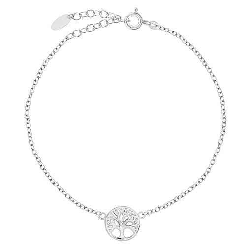 Bodifine Sterling Silver Tree of Life Design Anklet - Product number 4297806