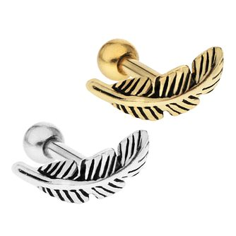 Bodifine Stainless Steel Feather Ear Tragus Bar Set - Product number 4298047