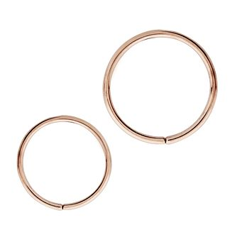 Bodifine Rose Gold Plated Ear Cartilage Ring Set - Product number 4299310