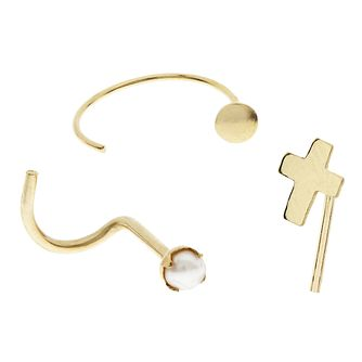 Bodifine 9ct Yellow Gold Nose Studs Set of 3 - Product number 4299531
