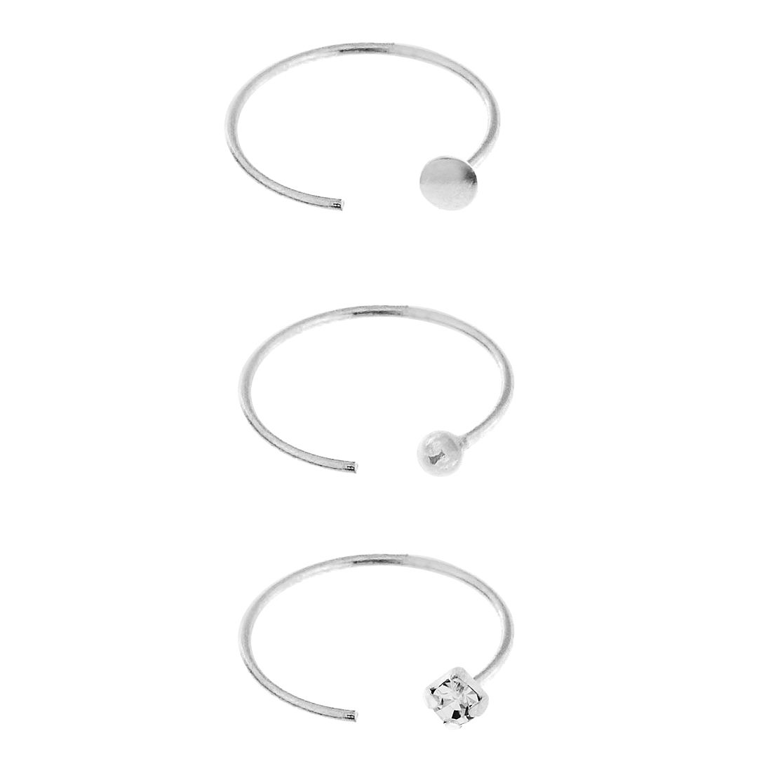 Bodifine Sterling Silver Nose Rings Set of 3 - Product number 4300173