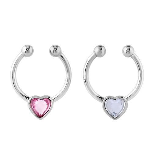 Bodifine Stainless Steel Crystal Nose Ring Set - Product number 4300181