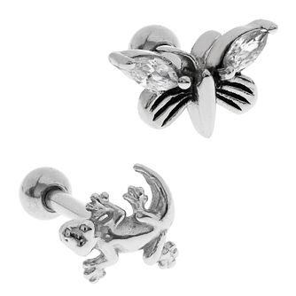Bodifine Stainless Steel Wildlife Ear Tragus Bar Set - Product number 4300424