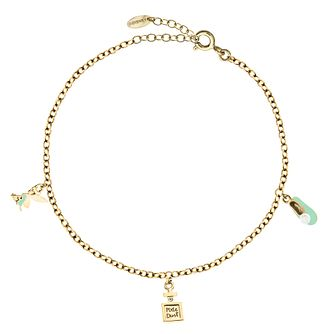 Bodifine Disney Tinker Bell Yellow Gold Plated Anklet - Product number 4300807