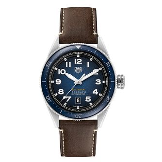 TAG Heuer Autavia Isograph Men's Brown Leather Strap Watch - Product number 4307135