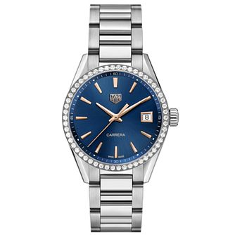 TAG Heuer Carrera Diamond Ladies' Stone Set Bracelet Watch - Product number 4307240