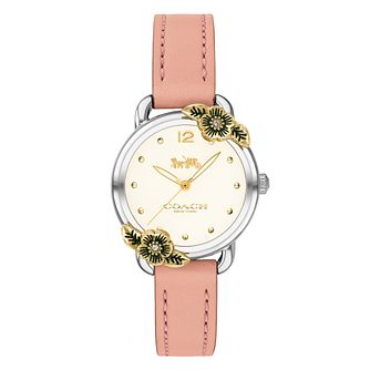Coach Delancey Ladies' Pink Leather Strap Watch - Product number 4309456