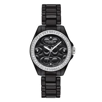 Coach Modern Sport Ladies' Black Ceramic Bracelet Watch - Product number 4309472