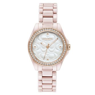 Coach Modern Sport Ladies' Pink Ceramic Bracelet Watch - Product number 4309480