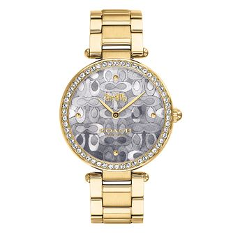Coach Park Ladies' Yellow Gold Tone Bracelet Watch - Product number 4309979