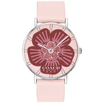 Coach Perry Ladies' Pink Leather Strap Watch - Product number 4310632