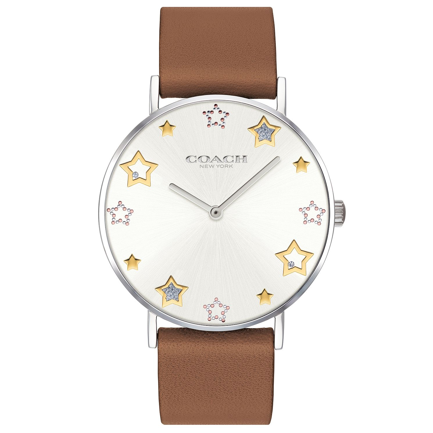 Coach Perry Ladies' Brown Leather Strap Watch - Product number 4310659
