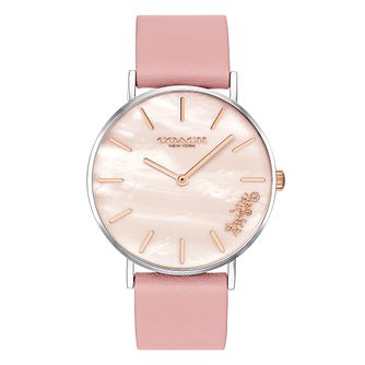 Coach Perry Ladies' Pink Leather Strap Watch - Product number 4311248