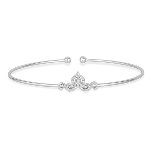 Enchanted Disney Fine Jewelry Diamond Cinderella Bangle - Product number 4311353
