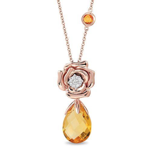 deee95701a6d6 Enchanted Disney Fine Jewelry Belle Rose Pendant