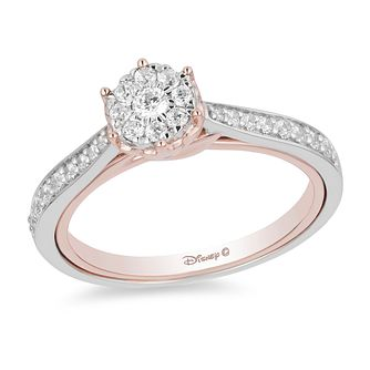 Enchanted Disney Fine Jewelry Rose Gold Diamond Belle Ring - Product number 4313313