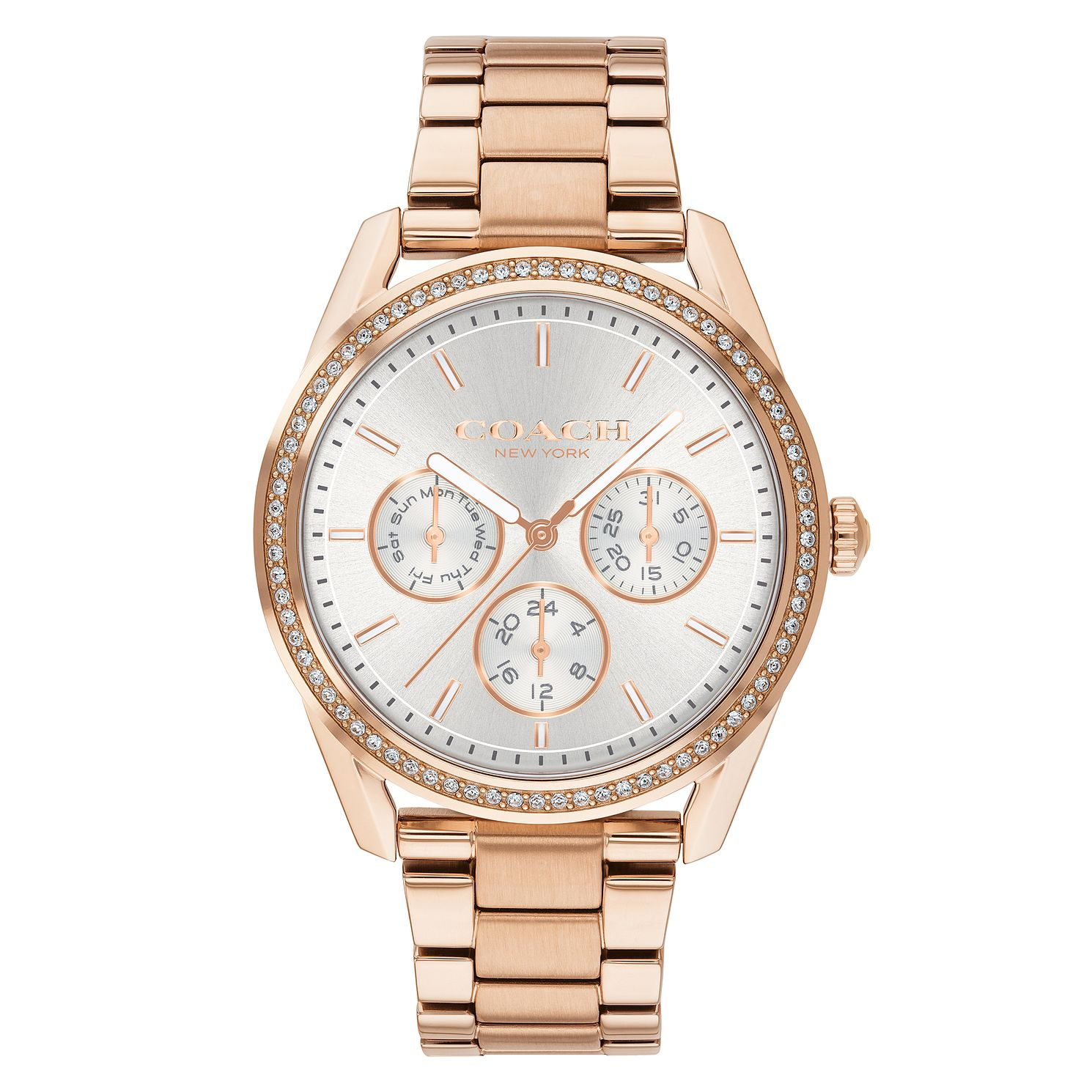Coach Preston Ladies' Rose Gold Tone Bracelet Watch - Product number 4314867