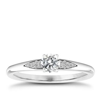 The Diamond Story 18ct White Gold 0.20ct Total Diamond Ring - Product number 4315901