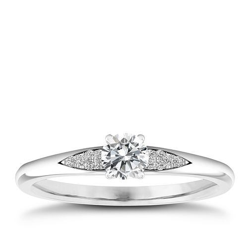 The Diamond Story 18ct White Gold 1/5ct Engagement Ring - Product number 4315901