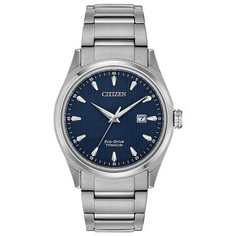 Citizen Eco Drive Men's Blue Dial Bracelet Watch - Product number 4321219