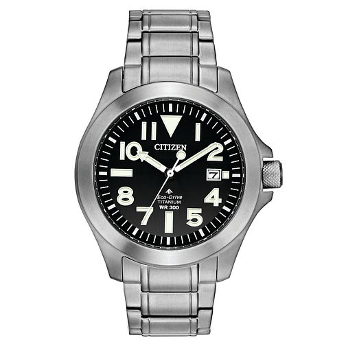 Citizen Eco Drive Men's Stainless Steel Bracelet Watch - Product number 4321278