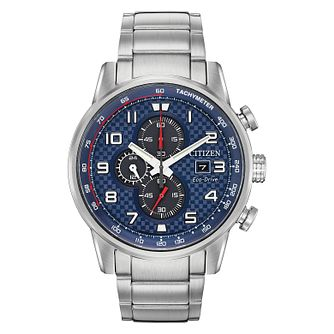 Citizen Eco Drive Men's Blue Chronograph Bracelet Watch - Product number 4321294