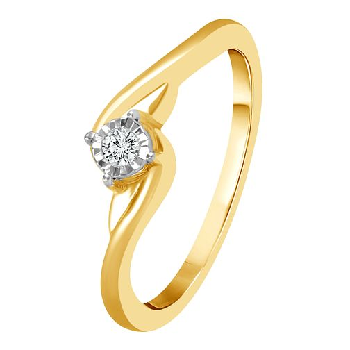 9ct Yellow Gold Diamond Solitaire Ring - Product number 4322746