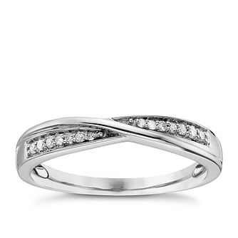Platinum Diamond Crossover Ring - Product number 4324994