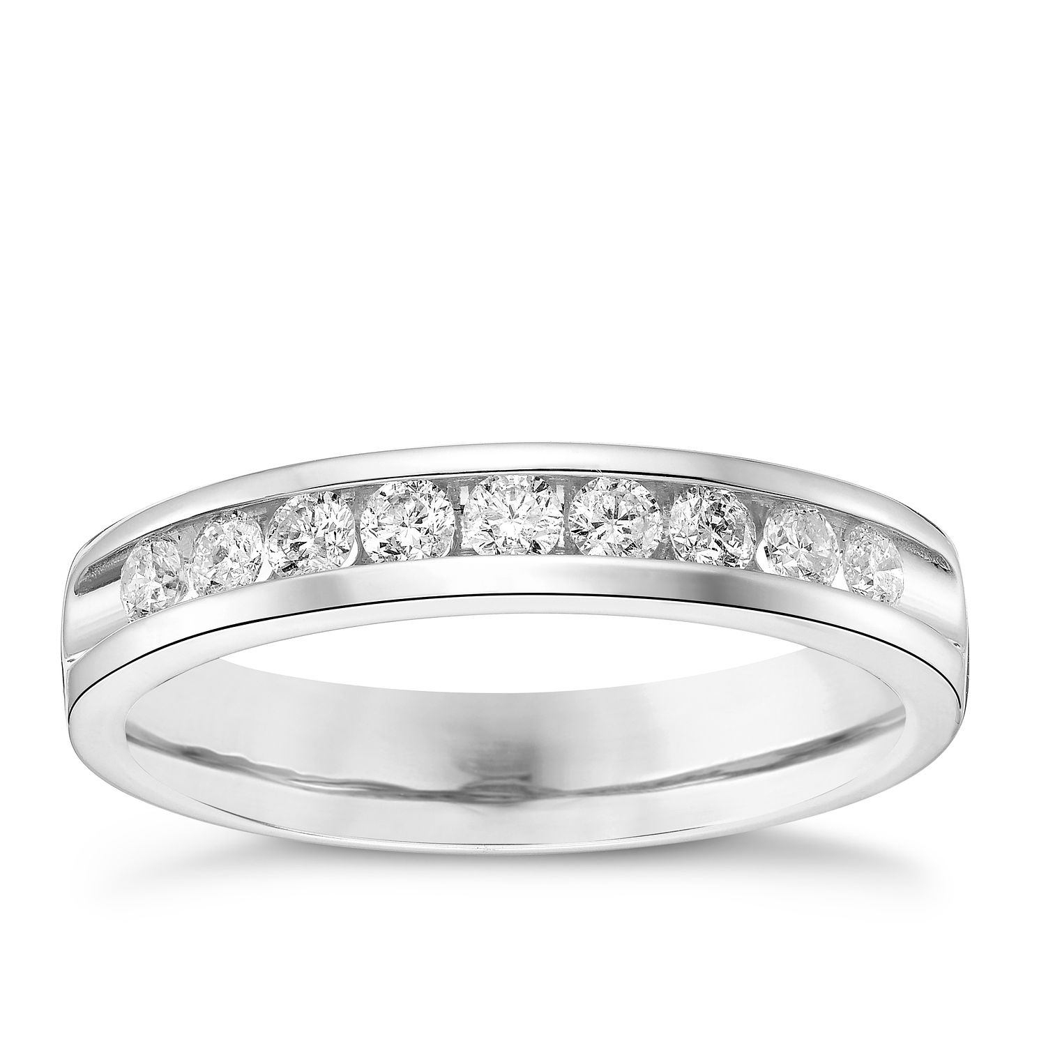 18ct White Gold 0.33ct Diamond Band - Product number 4325370