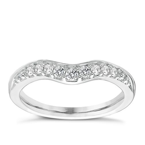 18ct White Gold 0.15ct Diamond Shaped Ring - Product number 4331443