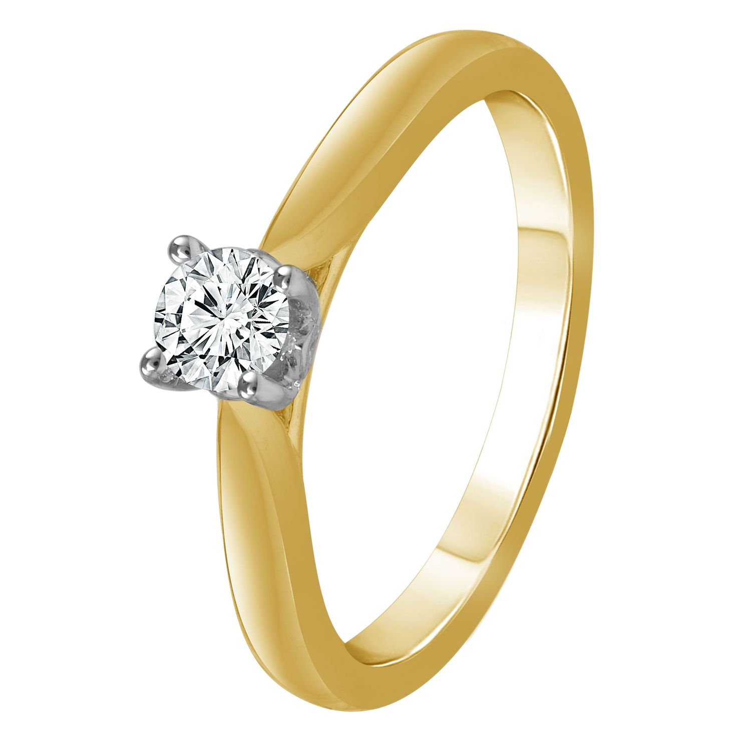 9ct Yellow Gold 1/5ct Diamond Solitaire Ring - Product number 4331532
