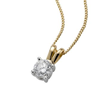 18ct Two Colour Gold 0.40ct Diamond Pendant - Product number 4335112
