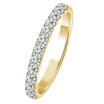 9ct Yellow Gold 1/2ct Diamond Eternity Ring - Product number 4335554