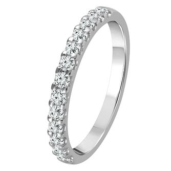 9ct White Gold 0.33ct Diamond Eternity Ring - Product number 4337506