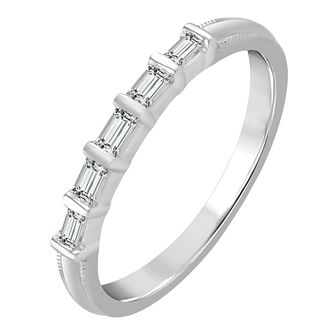 9ct White Gold 0.12ct Diamond Eternity Ring - Product number 4337875
