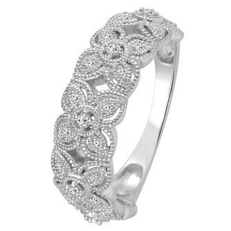 9ct White Gold 0.12ct Diamond Eternity Ring - Product number 4341058